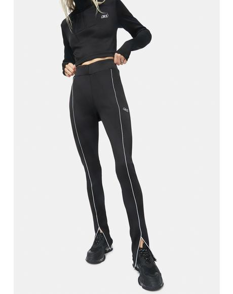 Split Seam Front Rib Leggings
