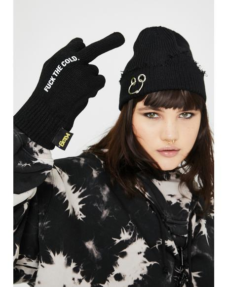 Damn The Cold Knit Gloves