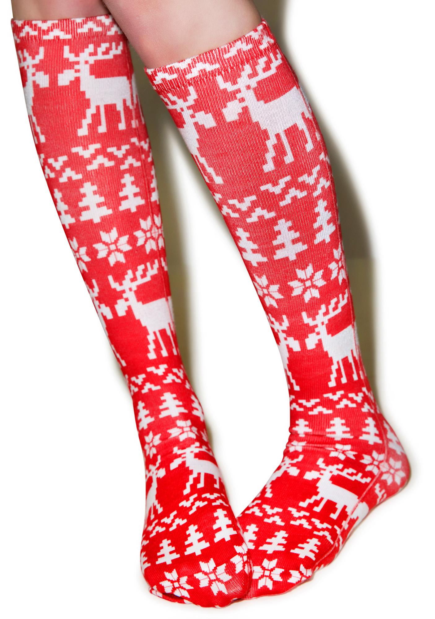 Merry Moose Socks