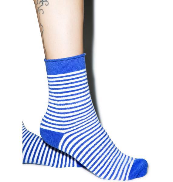Plush Earned Stripes Fleece Socks