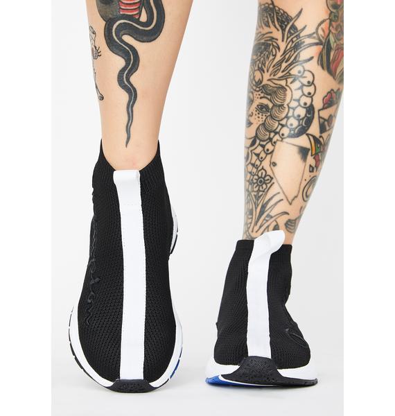 Champion Black Rally Sock Sneakers