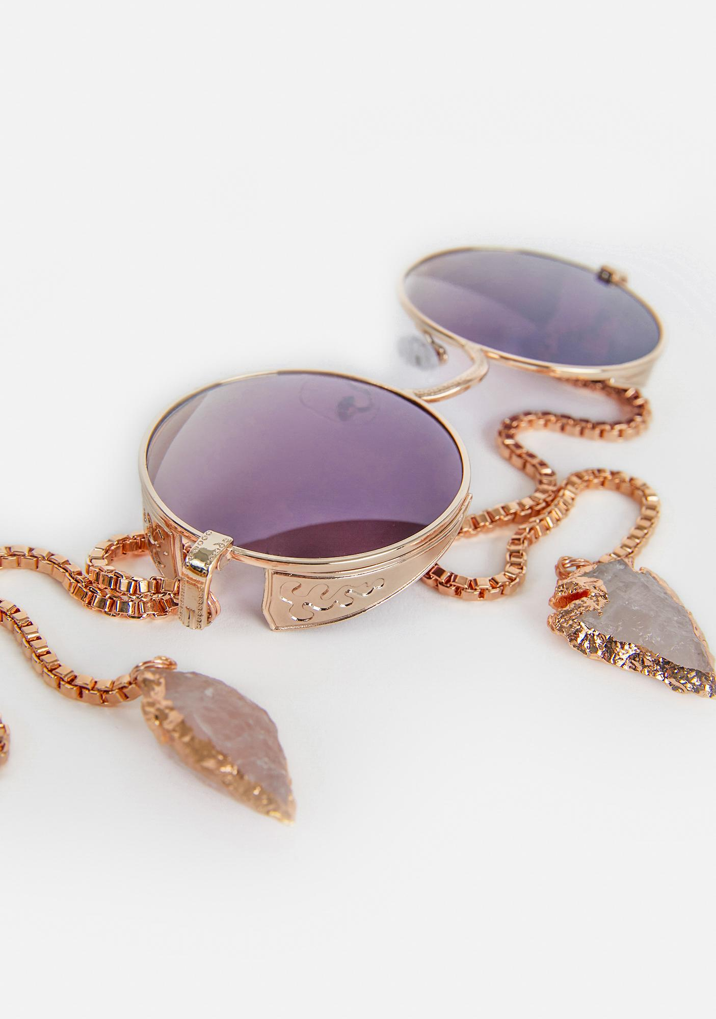 My Willows Ring Around The Roses Circle Sunglasses