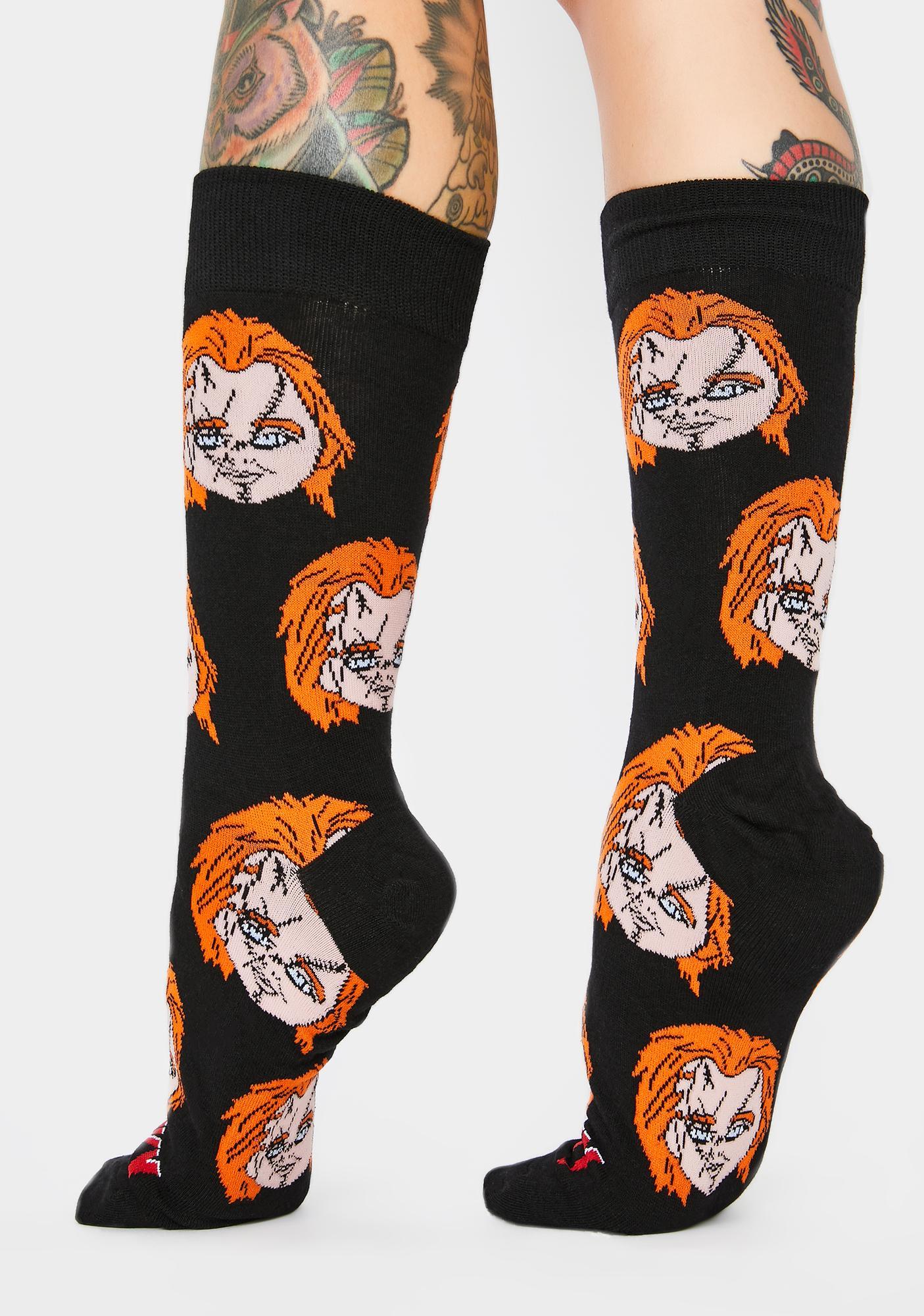 Cool Socks Chucky Heads Crew Socks
