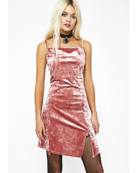 Figure Me Out Velvet Dress