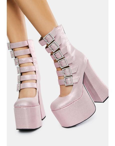 Divine Last Act Platform Buckle Boots
