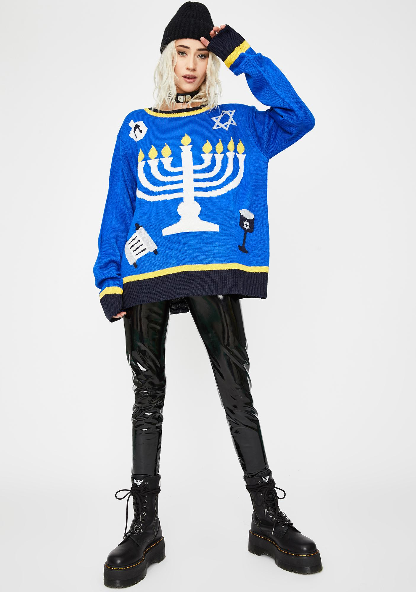 Outrageous Hanukkah Christmas Sweater