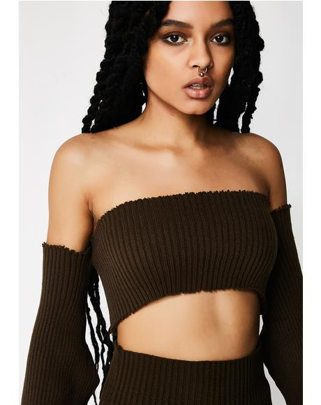 Shoulderless Crop Top