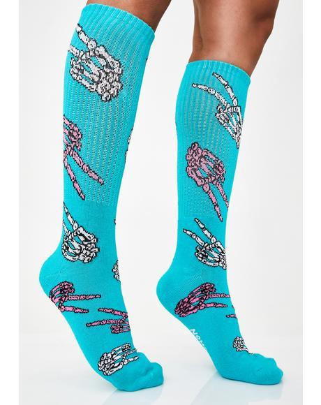 Pastel Peace Crew Socks