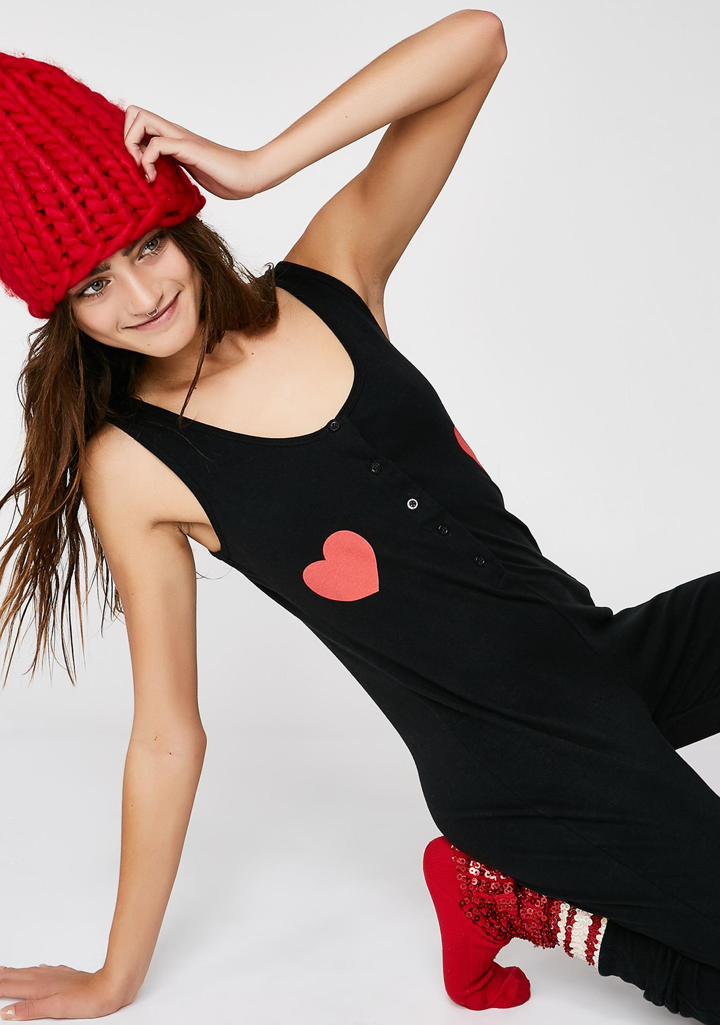 Wildfox Couture Queen Of Hearts Stay In Onesie