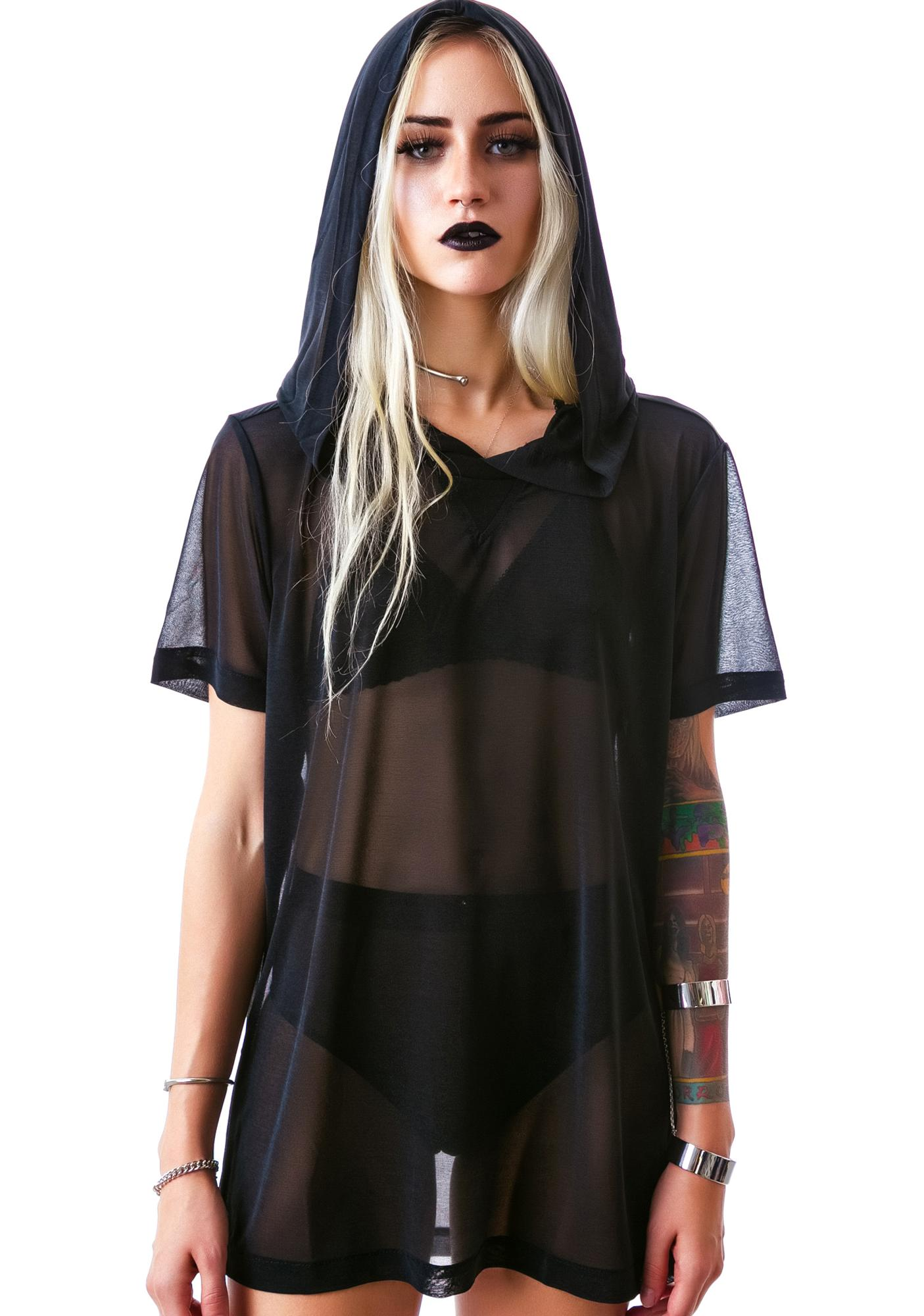 Widow Nightshade Hooded Pullover