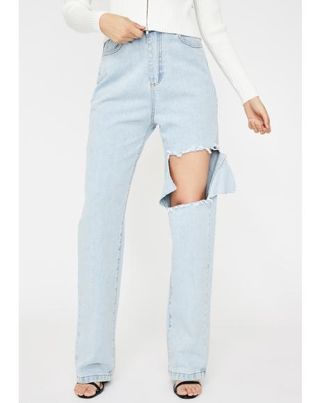 Damien Cut Boyfriend Jeans