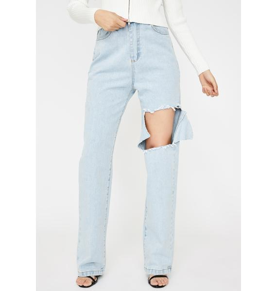 THE KRIPT Damien Cut Boyfriend Jeans