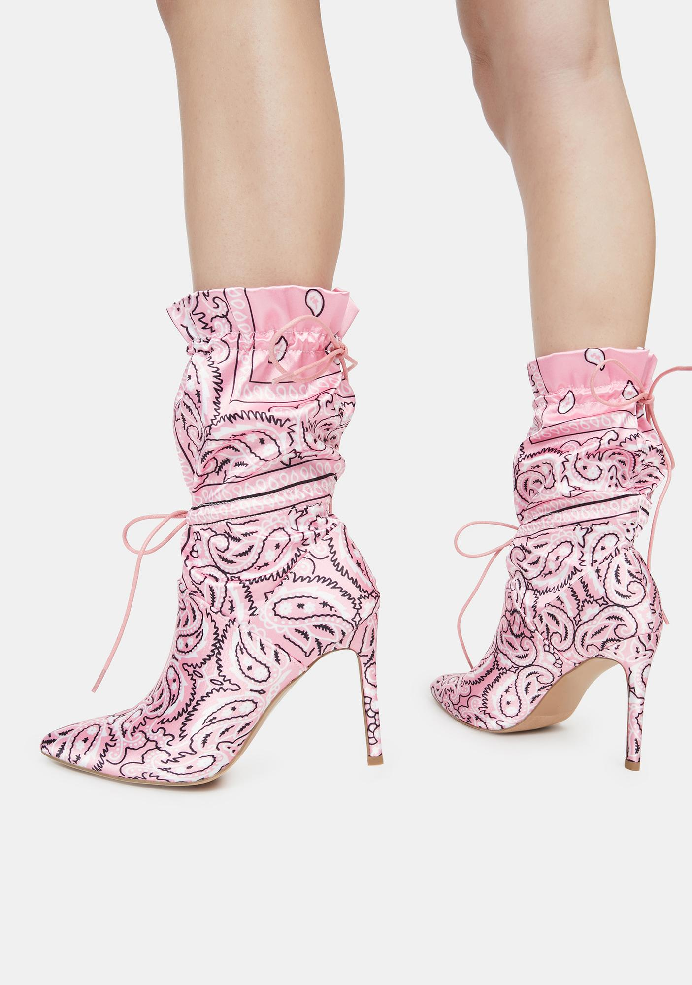 Flirt Money Making Madness Bandana Print Booties