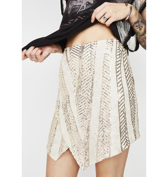 Gleaming Eyes Sequin Skirt