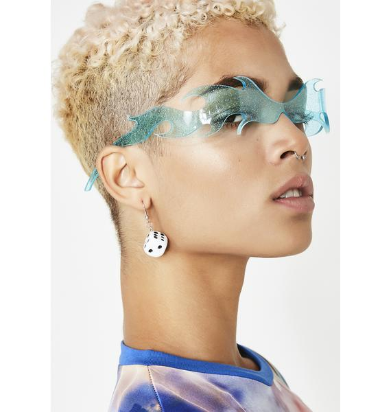 Planet i Blue Flamethrowers Sunglasses