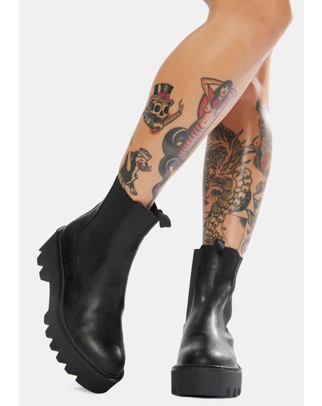 Wandering Hearts Chunky Chelsea Boots