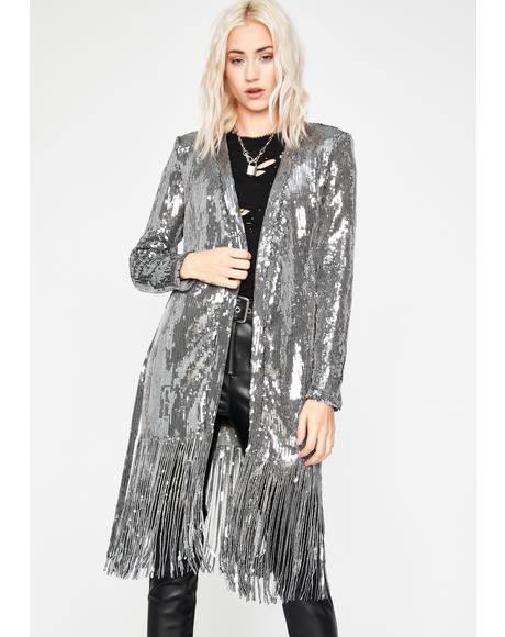 Chrome Ibiza Nights Sequin Duster