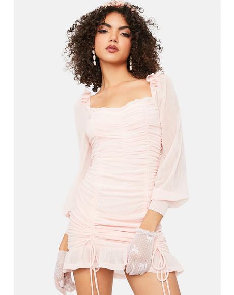 Dainty Daydream Ruched Bodycon Dress