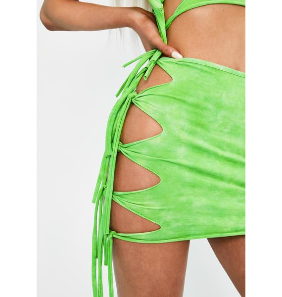 Club Exx Cosmix Coast Tie Dye Skirt