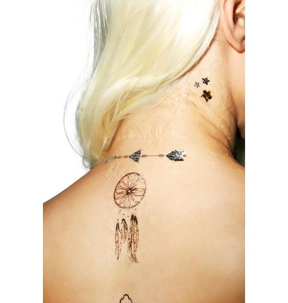 Moon Child Temp Tattoo Set