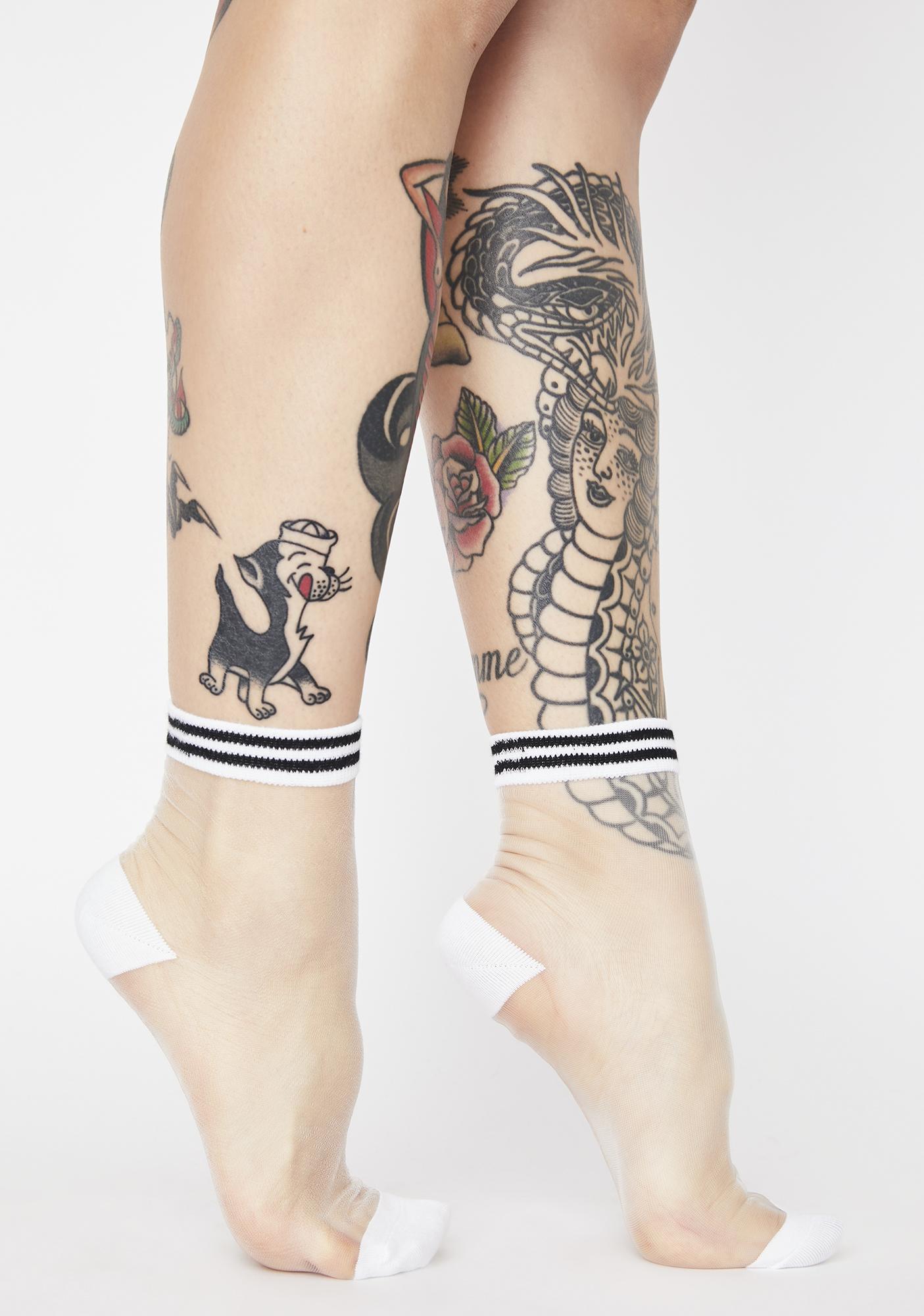 Boo Sporty Enough Sheer Socks