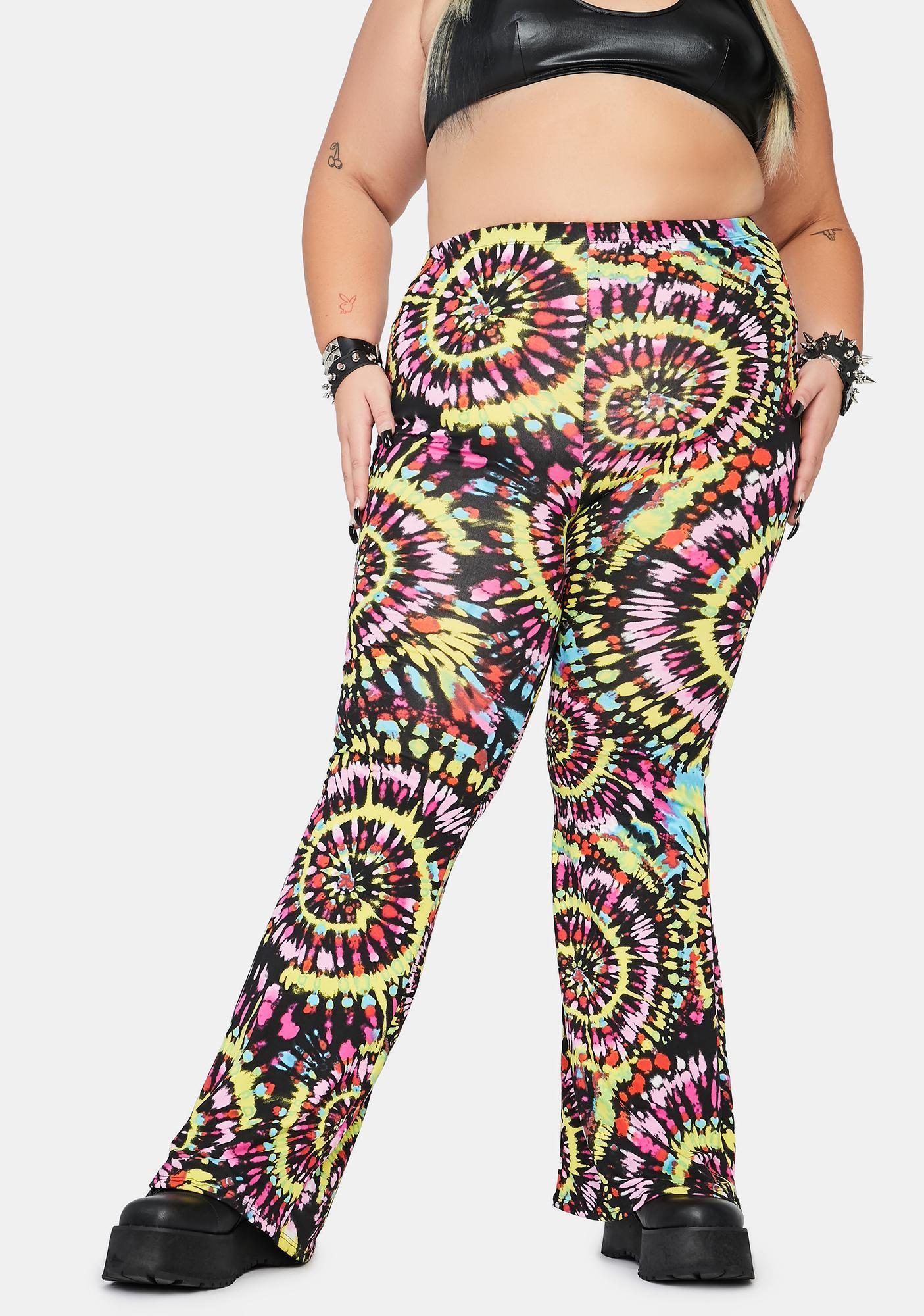 Trippy Dark Daze Flared Pants