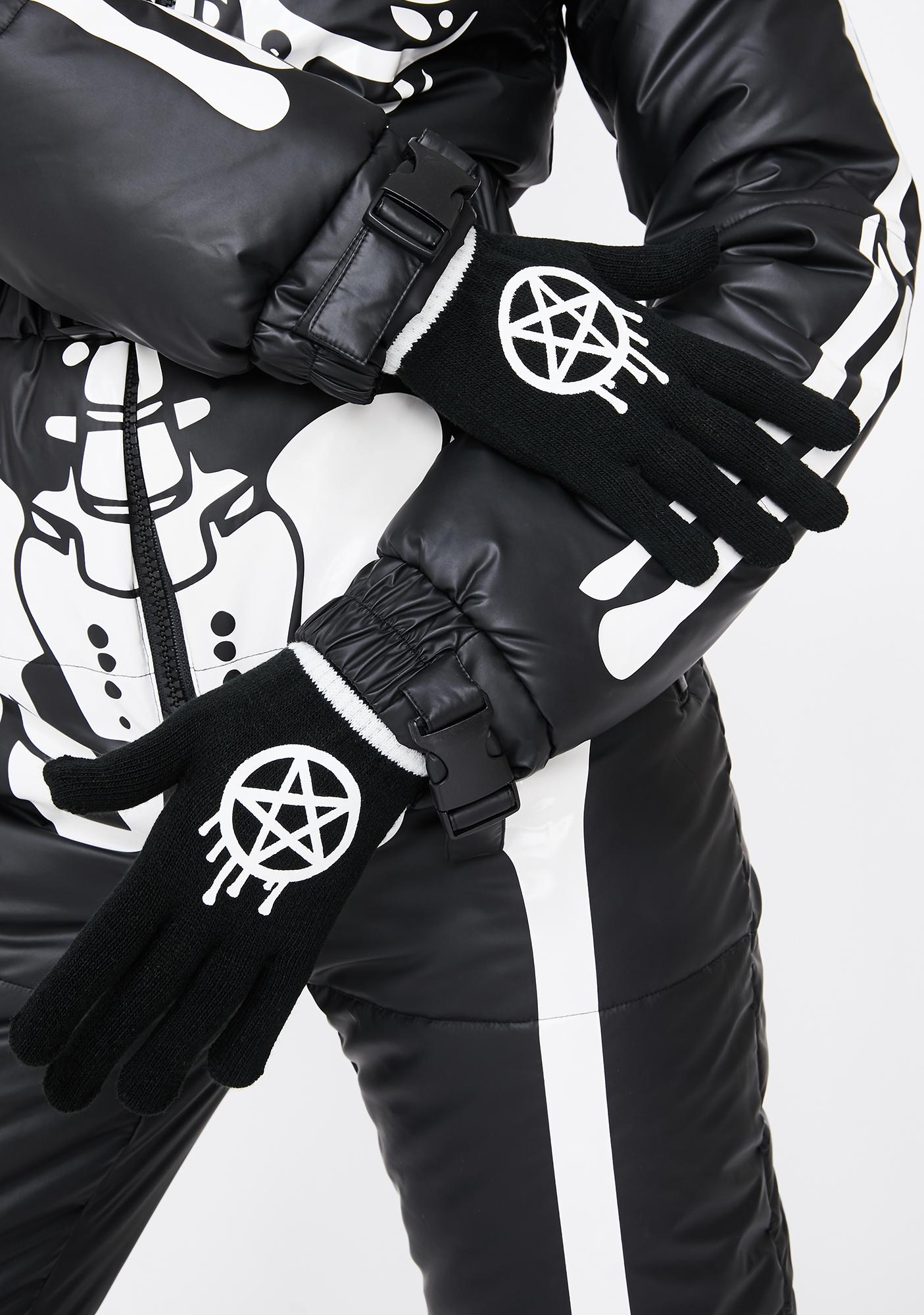 Too Fast Sporty Gram Knit Gloves