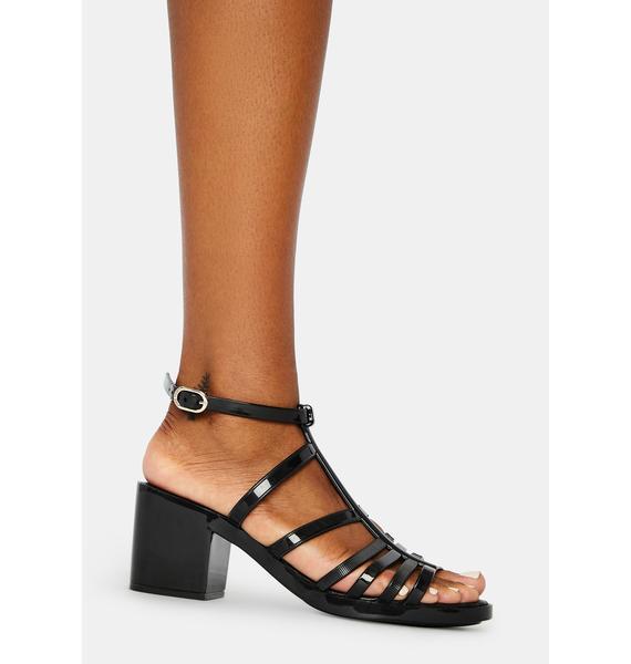 Petite Jolie Noir Dallas Jelly Sandals