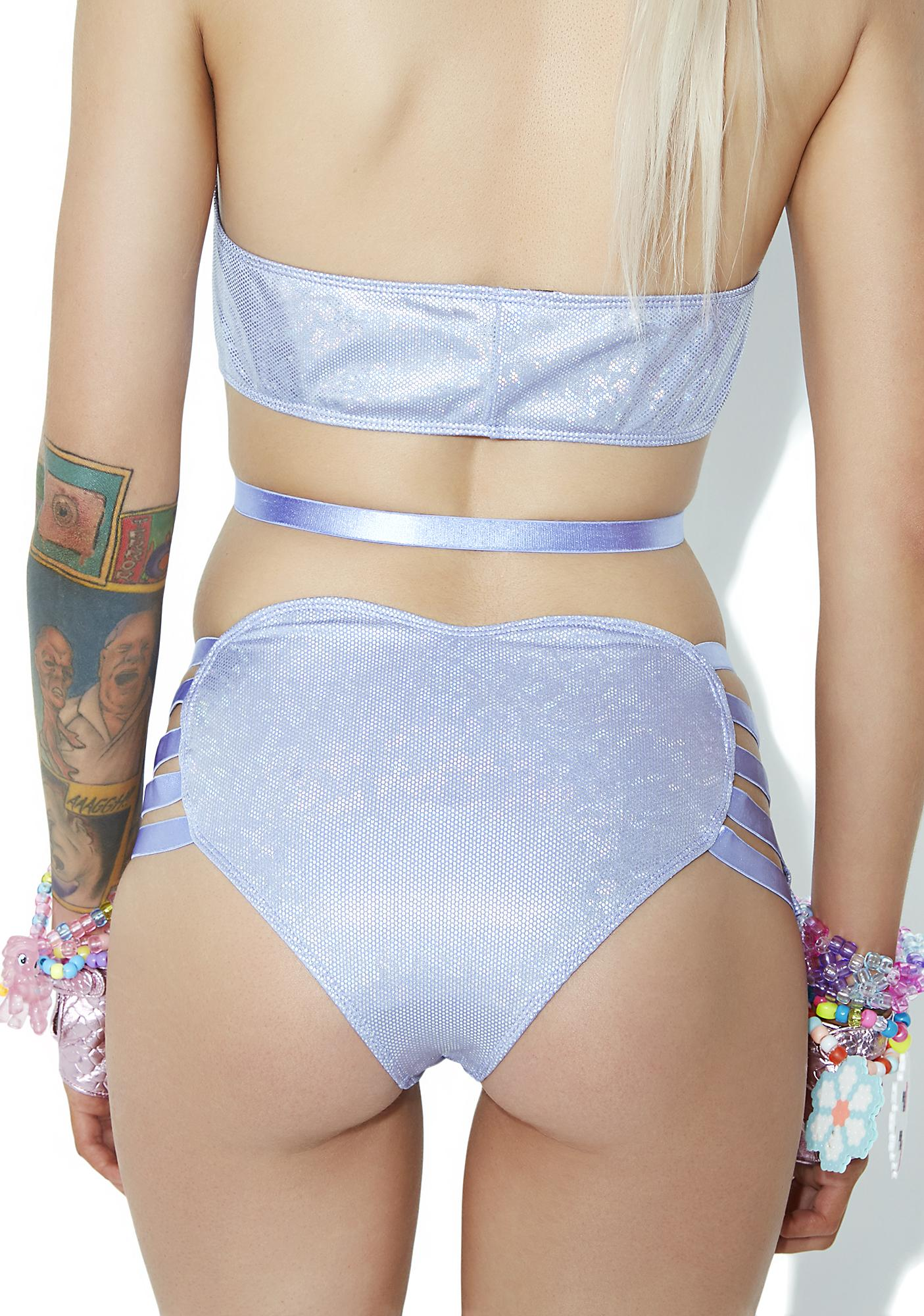 Club Exx Lilac Dancefloor L'amour Strappy Hot Shorts