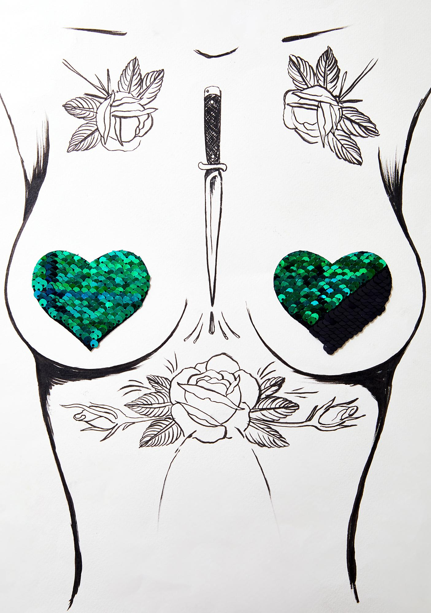 Pastease Sequin Heart Pasties