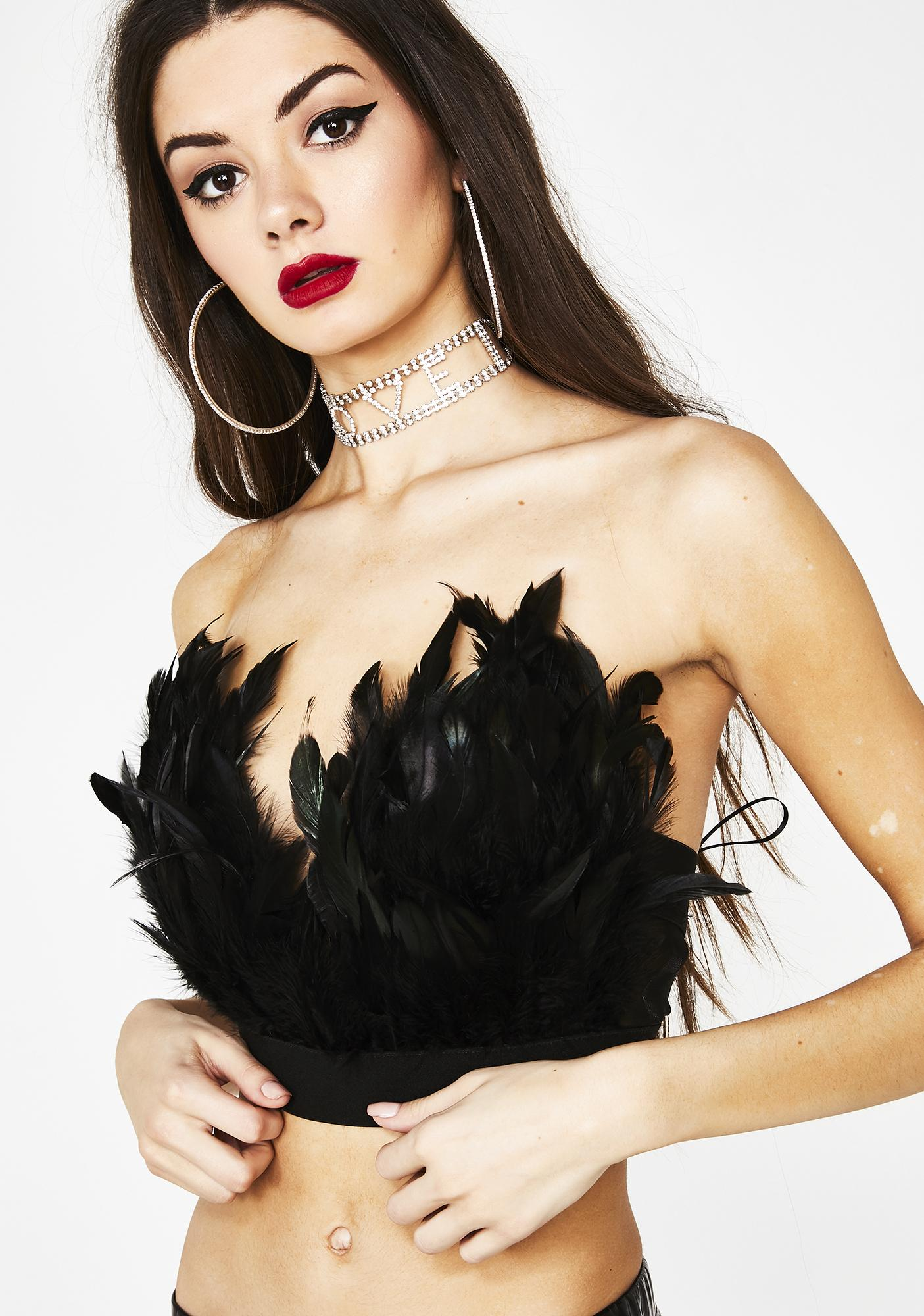 Tickle Your Fancy Feather Bustier by Bashful Monster