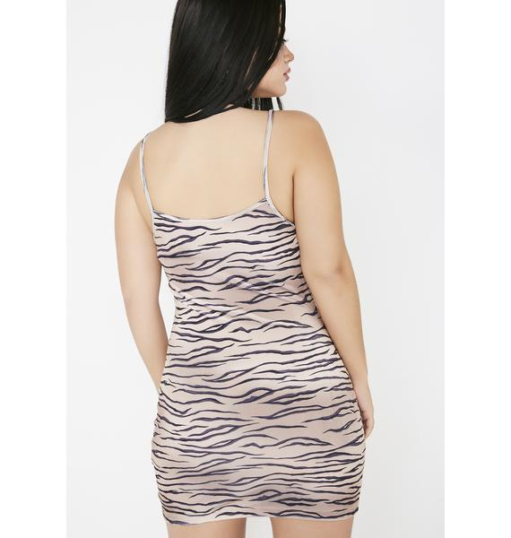 Motel Velvet Tiger Selah Dress