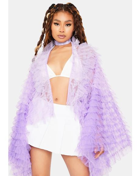 Lilac Main Attraction Ruffle Jacket