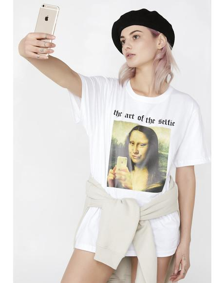 The Art Of The Selfie Oversized Tee