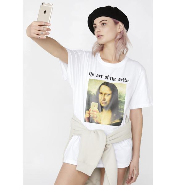 Minga The Art Of The Selfie Oversized Tee