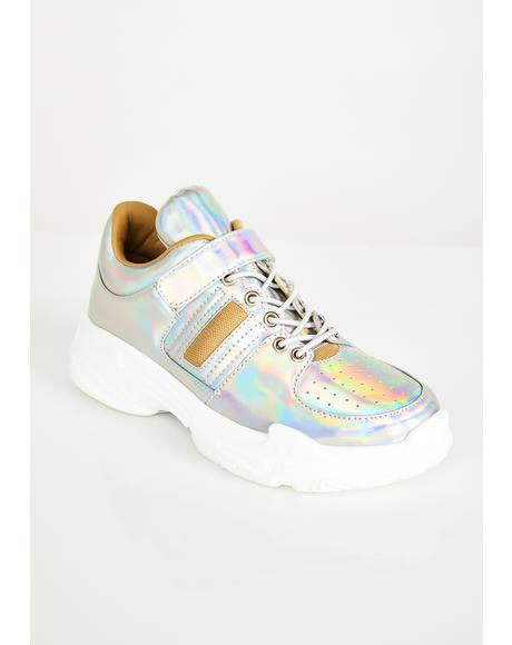 Moon Walkin Iridescent Sneakers