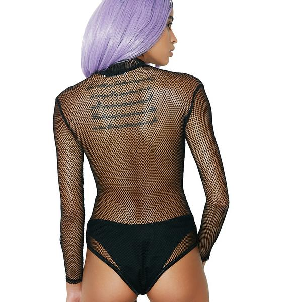 Glamorous Caught It Fishnet Bodysuit
