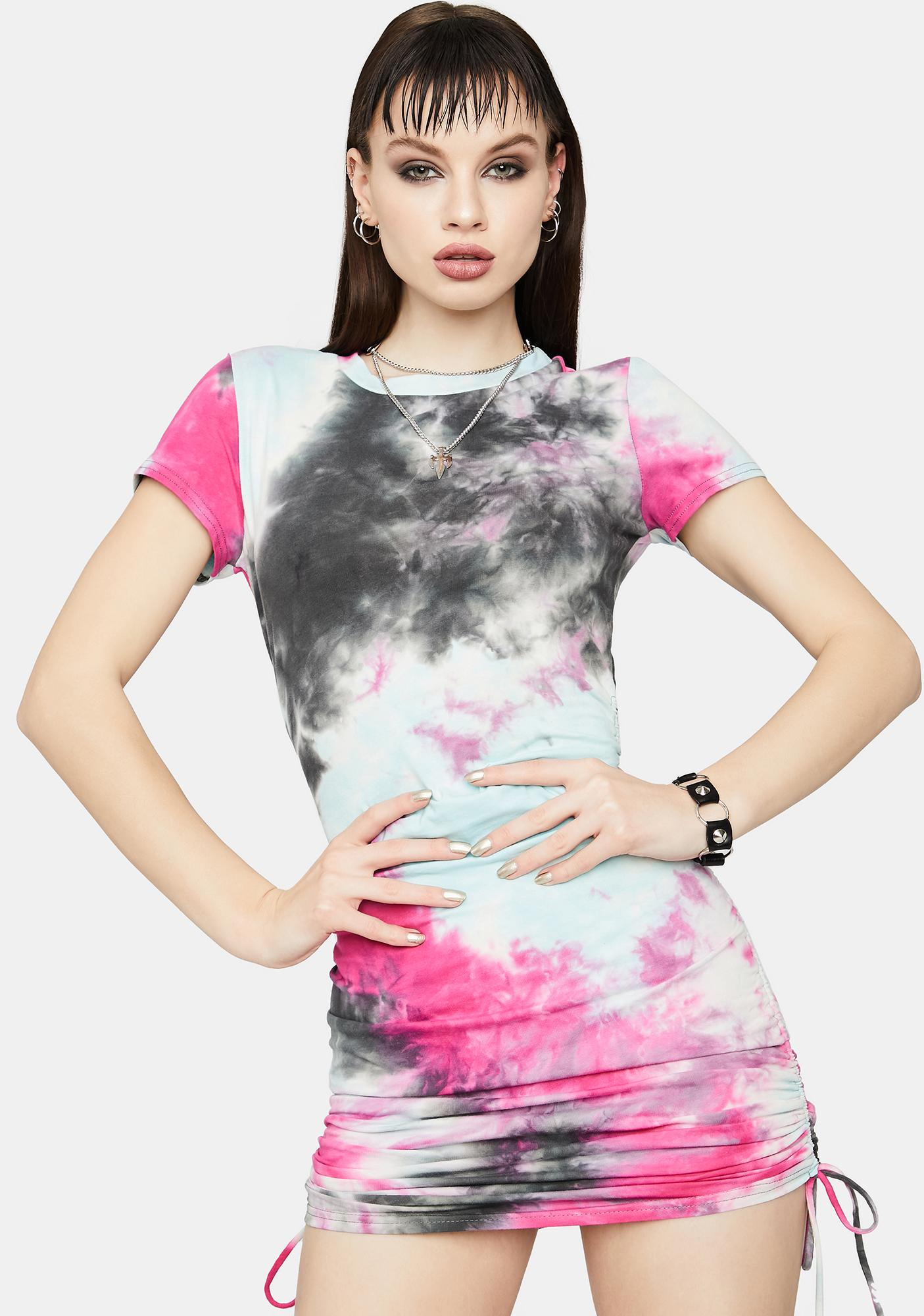 Give It Your All Tie Dye Mini Dress