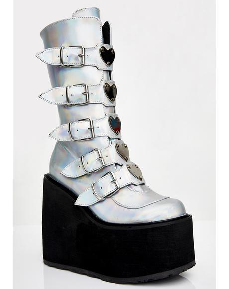 Holographic Lovesick Trinity Boots