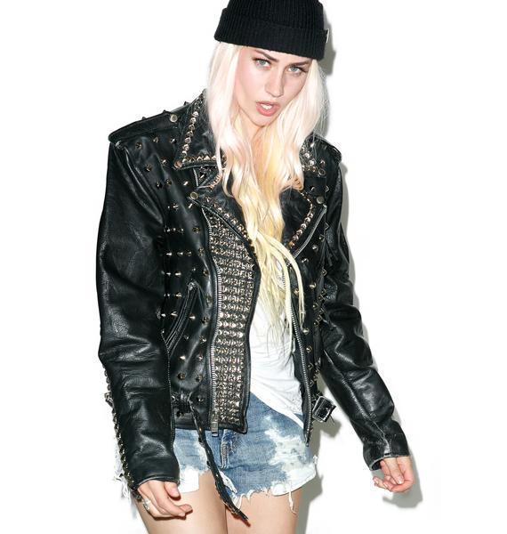 Hazmat Design Defenders Of The Faith Leather Jacket