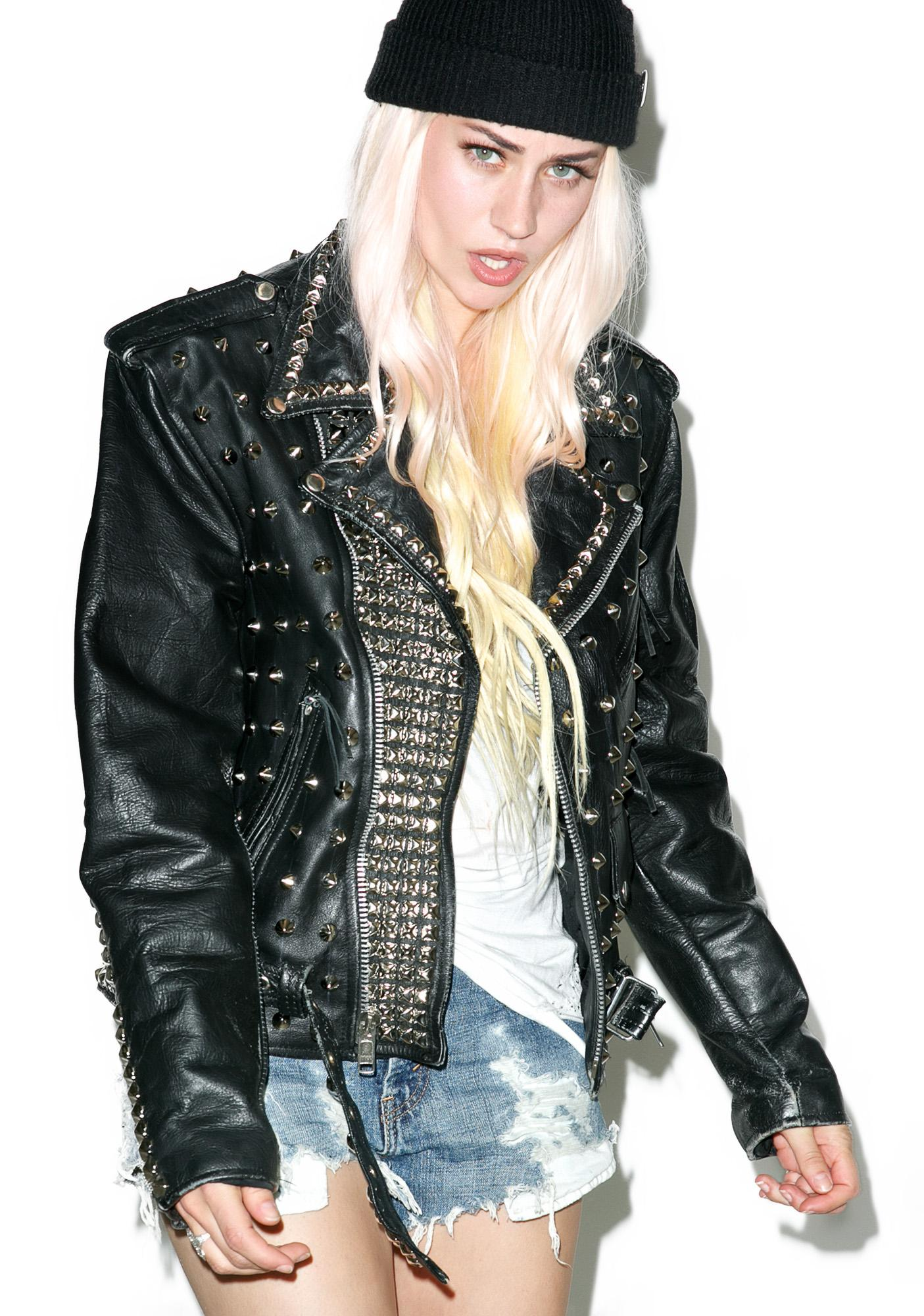 Hazmat Design Defenders Of The Faith Leather Jacket