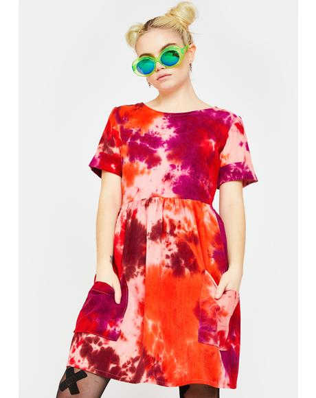 Tie Dye Corduroy Dress