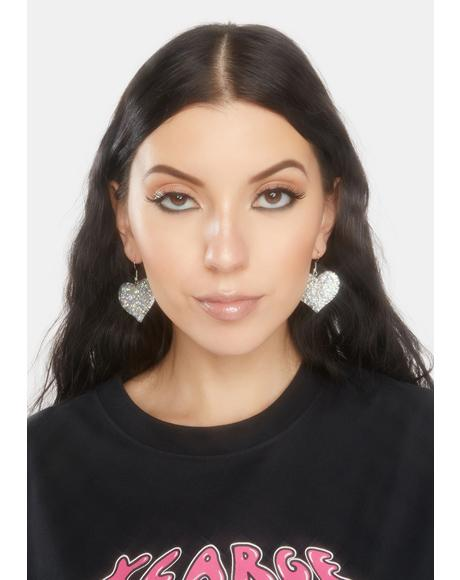 Chrome Take A Shine Drop Earrings