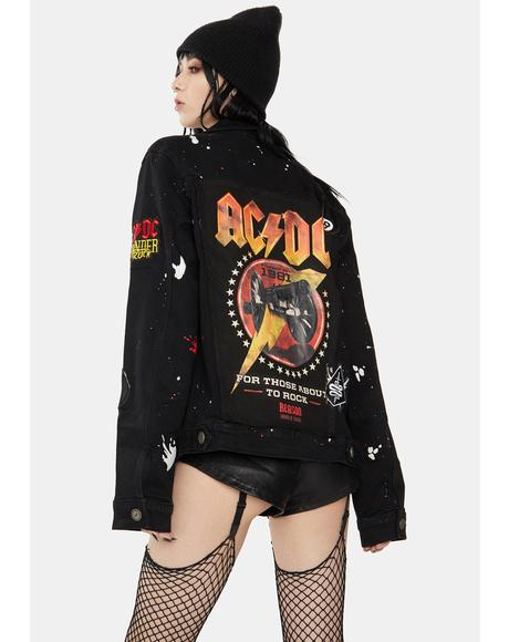 x AC/DC Ready Denim Jacket