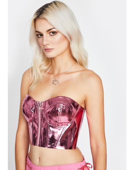 Candy Astral Love Metallic Bustier
