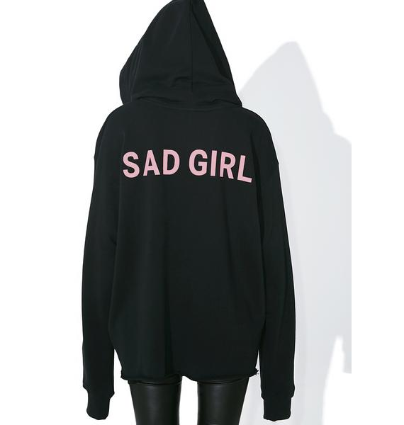 Not Common Sense Sad Girl Hoodie