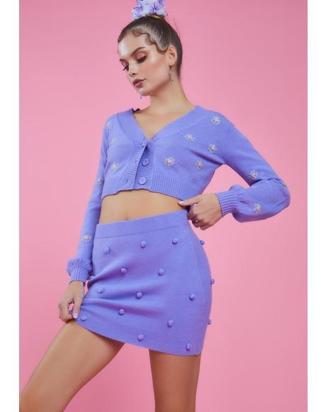 Dance With Me Pom Pom Sweater Skirt
