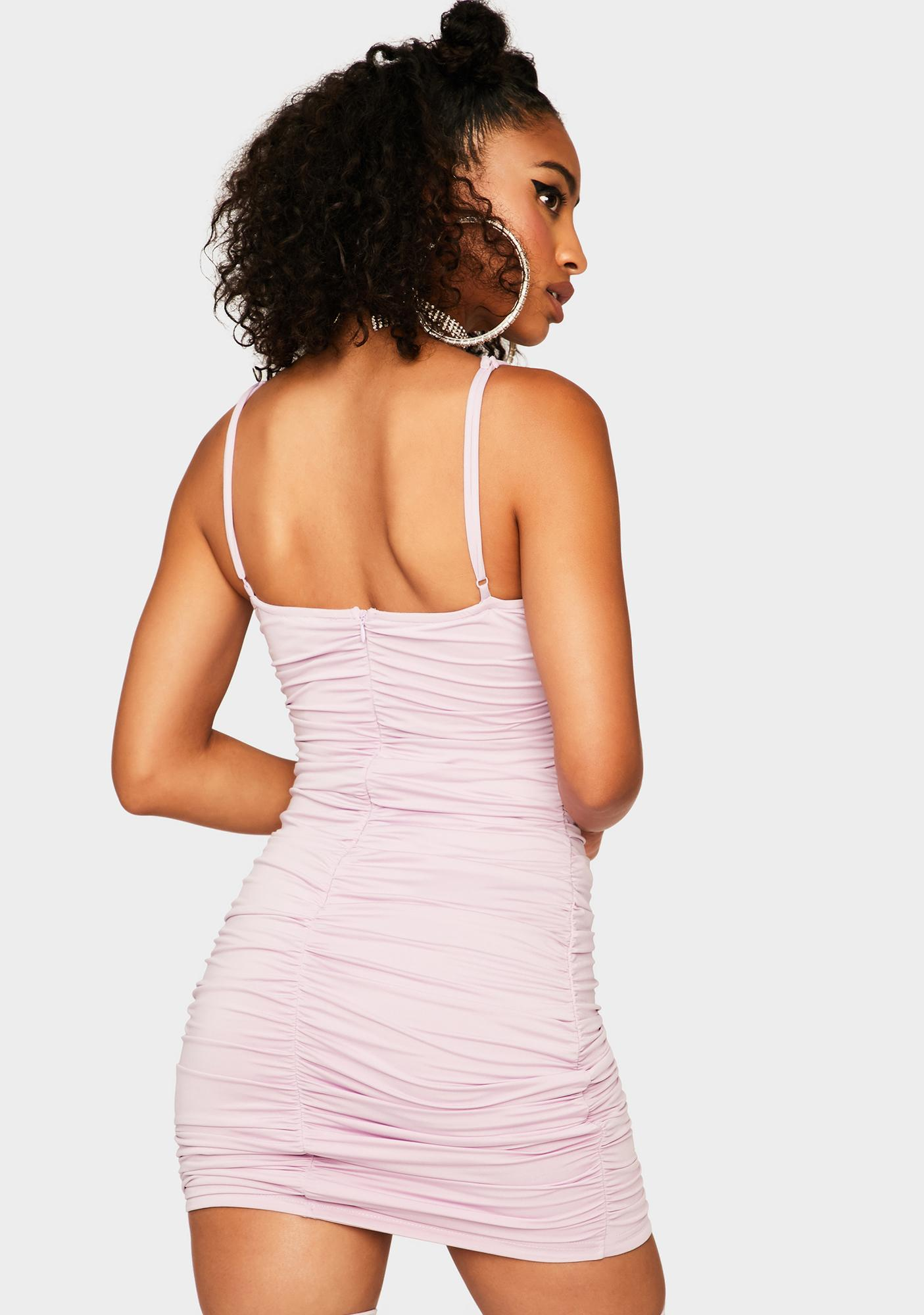 Here's My Number Ruched Dress