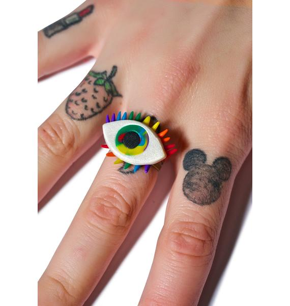 Wicked Hippie All Eyez On U Rainbow Ring