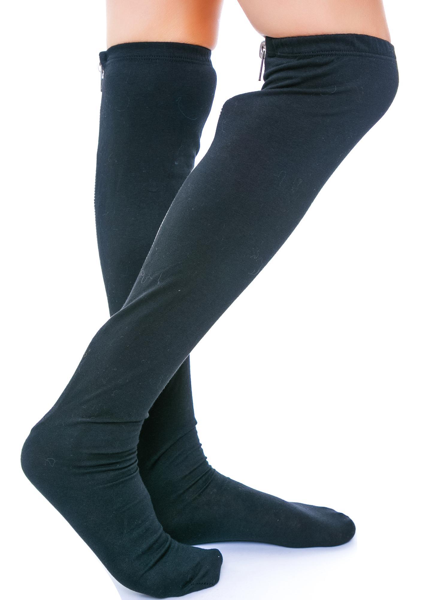 Zip Tuck Cotton Stocking